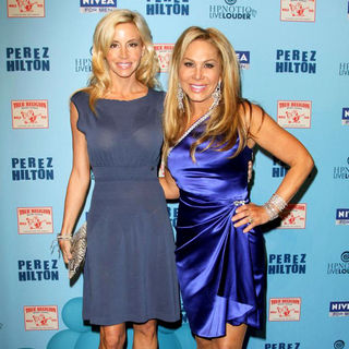 Camille Grammer, Adrienne Maloof in 'Perez Hilton's Blue Ball 33rd Birthday Celebration' - Arrivals