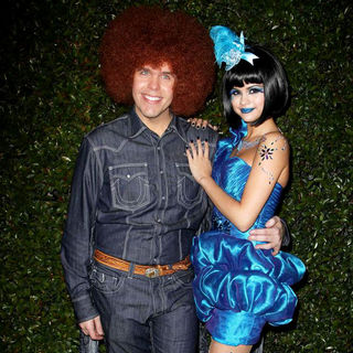 Perez Hilton, Selena Gomez in 'Perez Hilton's Blue Ball 33rd Birthday Celebration' - Arrivals