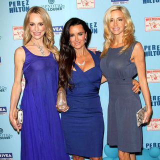 Taylor Armstrong, Kyle Richards, Camille Grammer in 'Perez Hilton's Blue Ball 33rd Birthday Celebration' - Arrivals