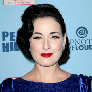 Dita Von Teese in 'Perez Hilton's Blue Ball 33rd Birthday Celebration' - Arrivals