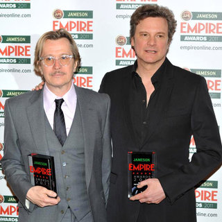 Gary Oldman, Colin Firth in The Jameson Empire Awards 2011 - Press Room