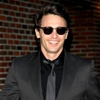 James Franco in 'The Late Show with David Letterman' at The Ed Sullivan Theater - Departures