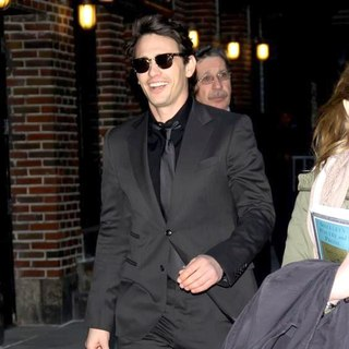 James Franco in The Late Show with David Letterman at The Ed Sullivan Theater - Departures