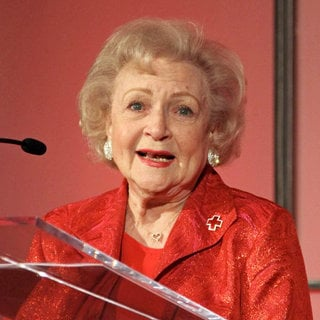 Betty White in The American Red Cross Santa Monica Chapter's Annual Red Tie Affair