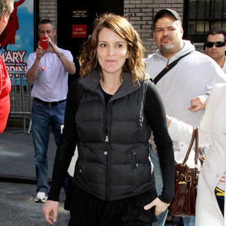 Tina Fey in 'The Late Show with David Letterman' at The Ed Sullivan Theater - Arrivals