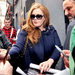 Adele in Adele Meeting Fans Outside The Olympia Theatre