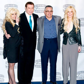 Victoria Gotti, John Travolta, John Gotti Jr., Lindsay Lohan in 'Gotti: Three Generations' Press Conference