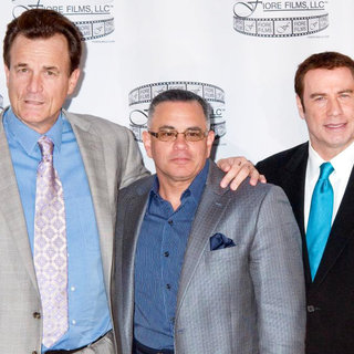Nick Cassavetes, John Gotti Jr., John Travolta in 'Gotti: Three Generations' Press Conference