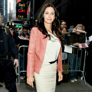 Courteney Cox Outside The 'Good Morning America' Studios