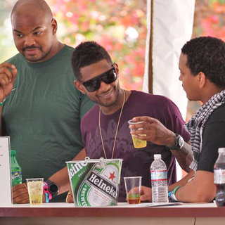 Usher in Celebrities at The 2011 Coachella Valley Music and Arts Festival - Day 1