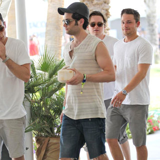 Penn Badgley, Dan Byrd, Shawn Pyfrom in Celebrities at The 2011 Coachella Valley Music and Arts Festival - Day 1