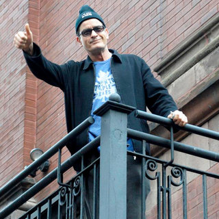 Charlie Sheen - Charlie Sheen Addresses His Supporters at Massey Hall After The BiPolar Awareness Walk