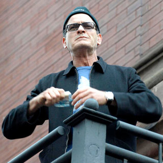Charlie Sheen Addresses His Supporters at Massey Hall After The BiPolar Awareness Walk - wenn5638956