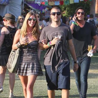 Nicky Hilton, David Katzenberg, Brandon Davis in Celebrities at The 2011 Coachella Valley Music and Arts Festival - Day 1