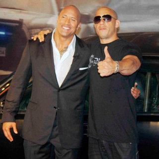 The Rock, Vin Diesel in 'Fast and Furious Five' Brazilian Premiere