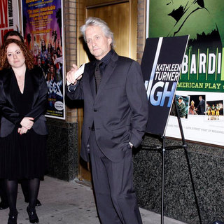 Michael Douglas in Michael Douglas Attend The Opening Night of The Broadway Production of 'High'