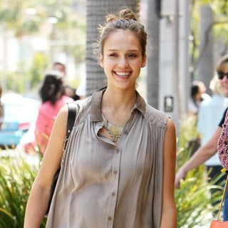 Jessica Alba in Jessica Alba Is Seen in Good Spirits as She Takes Honor Marie to Gymboree and Then Onto Whole Foods