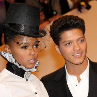 Janelle Monae, Bruno Mars in Alexander McQueen: Savage Beauty Costume Institute Gala