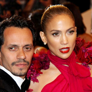Marc Anthony, Jennifer Lopez in Alexander McQueen: Savage Beauty Costume Institute Gala