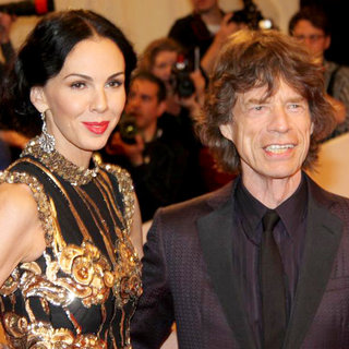 L'Wren Scott, Mick Jagger in Alexander McQueen: Savage Beauty Costume Institute Gala