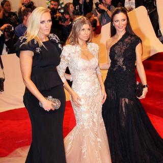 Keren Craig, Stacy Ferguson, Georgina Chapman in Alexander McQueen: Savage Beauty Costume Institute Gala