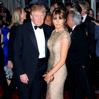 Donald Trump, Melania Trump in Alexander McQueen: Savage Beauty Costume Institute Gala