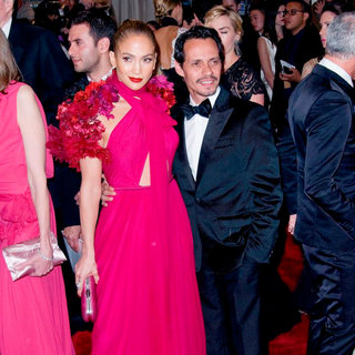 Jennifer Lopez, Marc Anthony in Alexander McQueen: Savage Beauty Costume Institute Gala