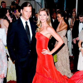 Tom Brady, Gisele Bundchen in Alexander McQueen: Savage Beauty Costume Institute Gala