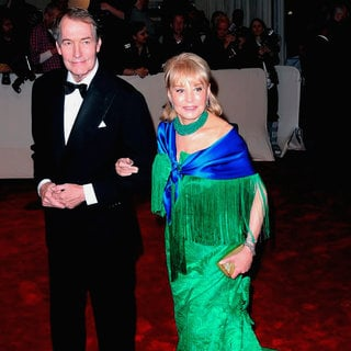 Charlie Rose, Barbara Walters in Alexander McQueen: Savage Beauty Costume Institute Gala