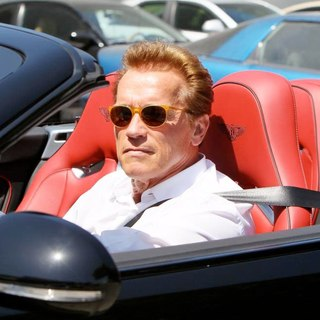 Arnold Schwarzenegger in Arnold Schwarzenegger is Seen Leaving Cafe Roma After Having Lunch