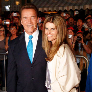Arnold Schwarzenegger, Maria Shriver in Pirates of the Caribbean: Dead Man's Chest Premiere