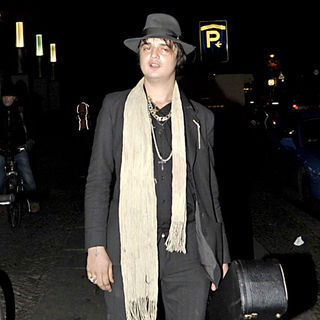 Pete Doherty Arriving for His Concert at Kesselhaus der Kulturbrauerei