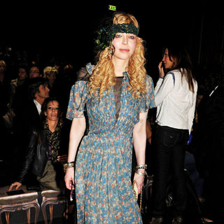 Courtney Love in The Milan Fashion Week - Roberto Cavalli - Front Row