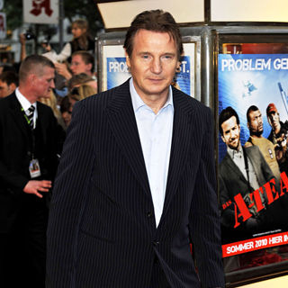 Liam Neeson in The German Premiere of 'The A-Team'