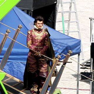 Orlando Bloom - On The Set of 'The Three Musketeers'