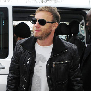 Gary Barlow in Gary Barlow of Take That Arriving at Schoenefeld Airport