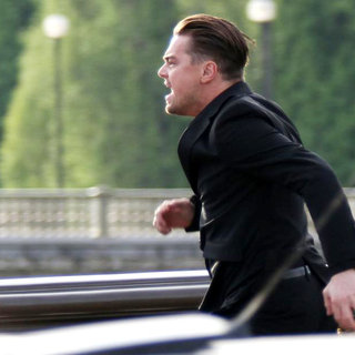 Leonardo DiCaprio in Leonardo DiCaprio on The Bridge Alexandre III for A Scene of Chinese Publicity Film