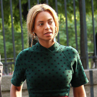 Beyonce Knowles in Beyonce Knowles and Jay-Z on Their Way to Fouquet's Hotel