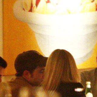 Robert Pattinson in Robert Pattinson Having Dinner at Bocca di Bacco Restaurant on Friedrichstrasse Street