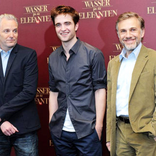 "Francis Lawrence, Robert Pattinson, Christoph Waltz in A Photocall for The Movie ""Water for Elephants"""