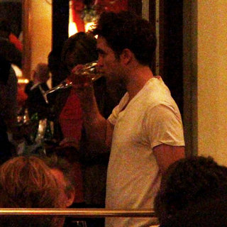 Robert Pattinson in Robert Pattinson at Borchardt Restaurant After The European Premiere of 'Water for Elephants'