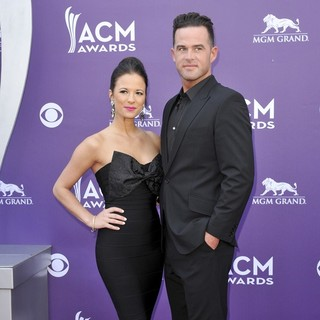 Catherine Werne, David Nail in 48th Annual ACM Awards - Arrivals