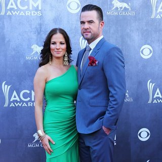 Catherine Werne, David Nail in 49th Annual Academy of Country Music Awards - Arrivals