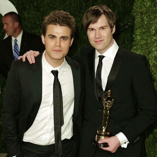 Paul Wesley, Shawn Christensen in 2013 Vanity Fair Oscar Party - Arrivals