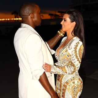 Kanye West, Kim Kardashian in Cruel Summer Premiere - During The 65th Cannes Film Festival - Arrivals