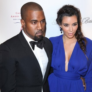 Kanye West, Kim Kardashian in The Angel Ball 2012