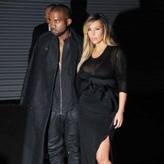 Kanye West in The Givenchy Show During Paris Fashion Week - west-kardashian-givenchy-show-03