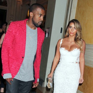 Kanye West, Kim Kardashian in Kim Kardashian Celebrates Her 33rd Birthday