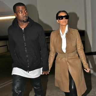 Kanye West, Kim Kardashian in Kim Kardashian and Kanye West Leaving A Medical Building