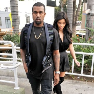 Kanye West, Kim Kardashian in Kanye West and Kim Kardashian Leaving Kung Pao Bistro